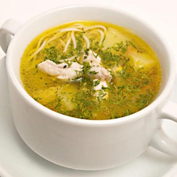 Куриный суп с лапшой в мультиварке фото